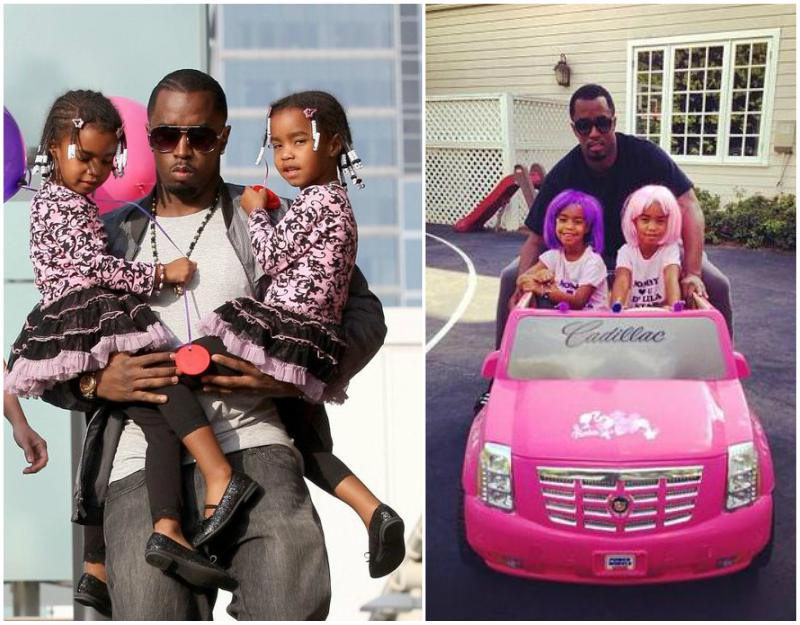 Puff Daddy (P. Diddy, Sean Combs) children - twin daughters D`lila Star and Jessie Combs