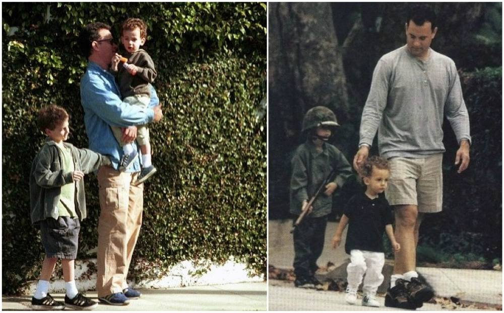 Tom Hanks children - sons Chester and Truman