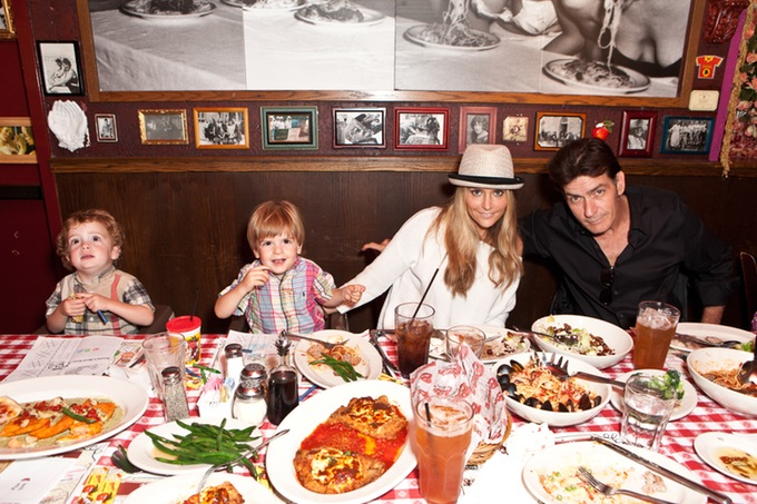 Charlie Sheen`s family - ex-wife Brooke Mueller and sons Max and Bob