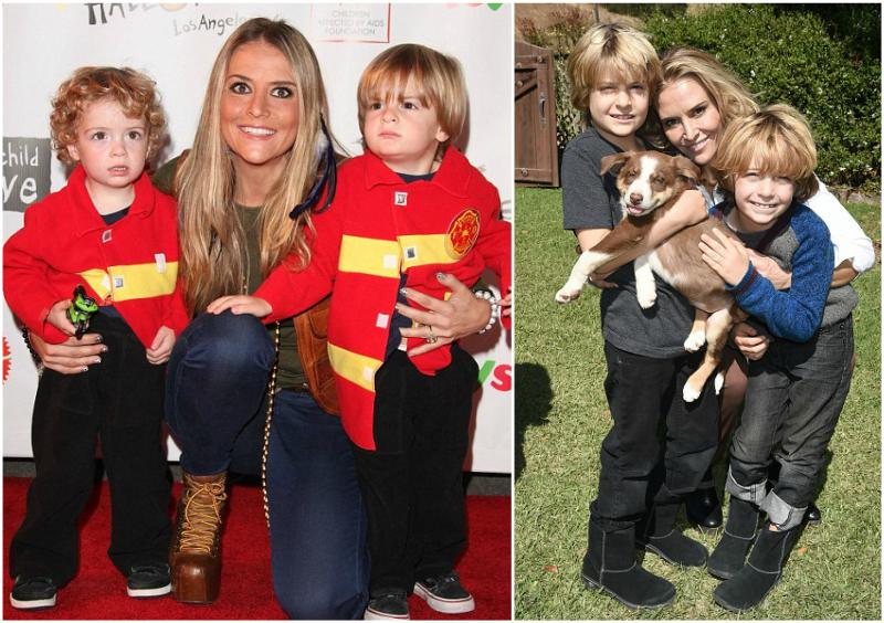 Charlie Sheen`s family - sons Max, Bob and ex-wife Brooke Mueller