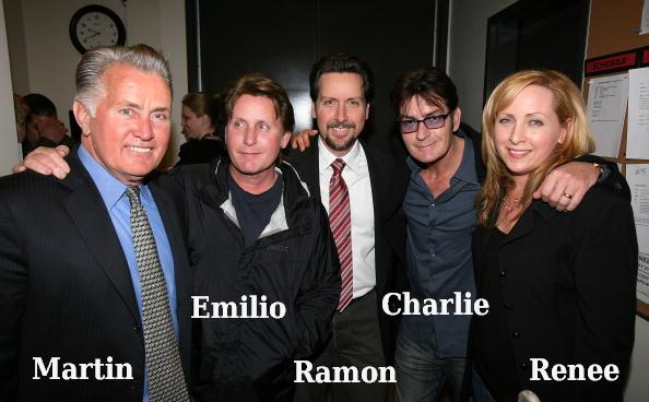 Charlie Sheen`s father and siblings