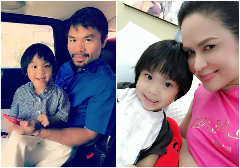 Manny Pacquiao`s children - son Israel Pacquiao