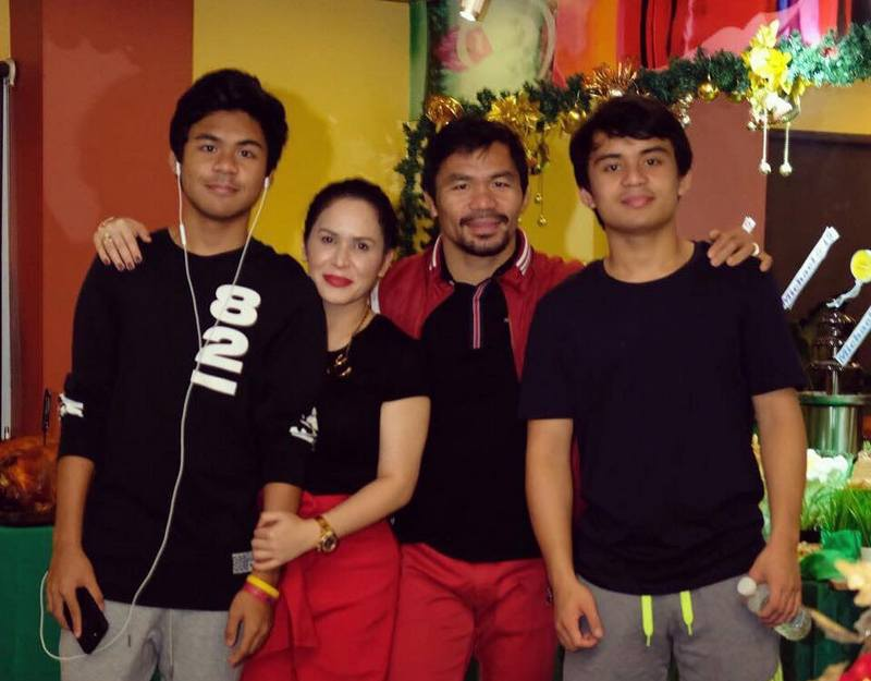 Manny Pacquiao`s children - sons