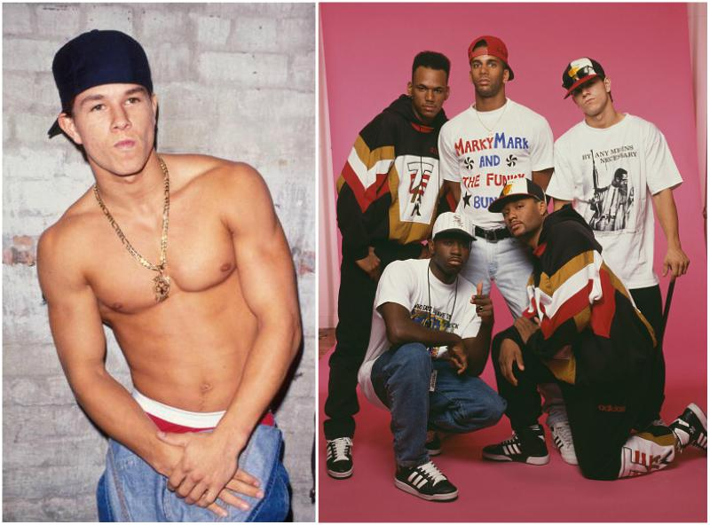 Mark Wahlberg as a member of the band Marky Mark and The Funky Bunch