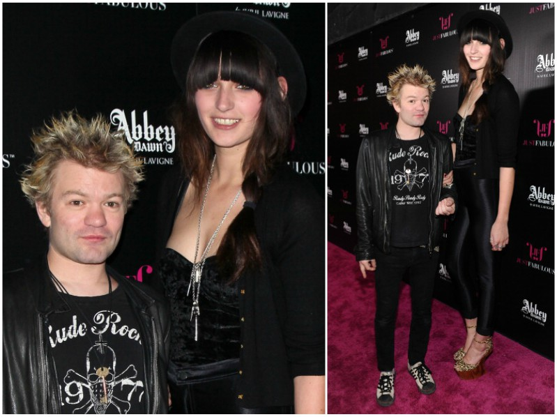 Avril Lavigne`s ex-husband Deryck Whibley with wife Ariana Cooper