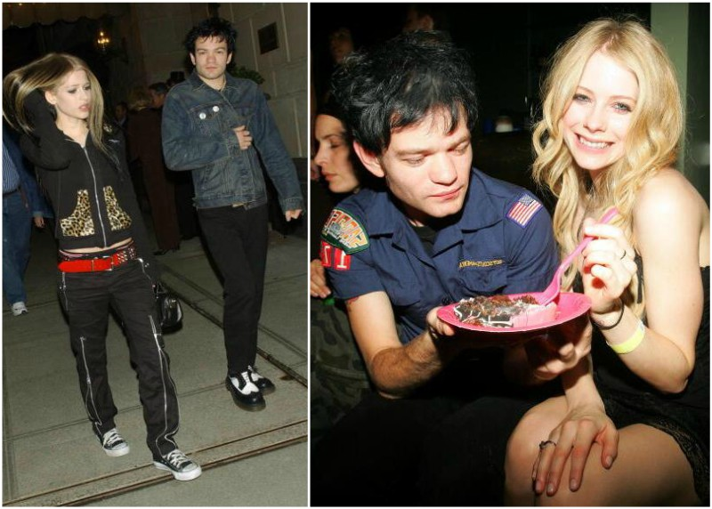 Avril Lavigne`s family - ex-husband Deryck Whibley