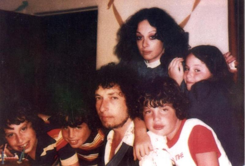 Bob Dylan's family - ex-wife Sara Lownds Dylan and children