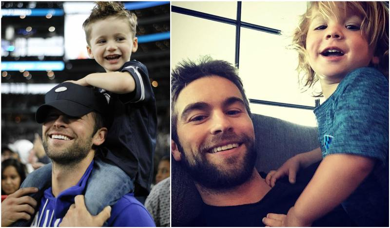 Chace Crawford`s with his sister children