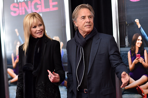 Dakota Johnson`s parents - father Don Johnson and mother Melanie Griffith