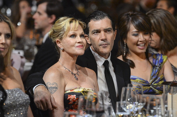 Dakota Johnson`s family - mother Melanie Griffith and ex-husband Antonio Banderas