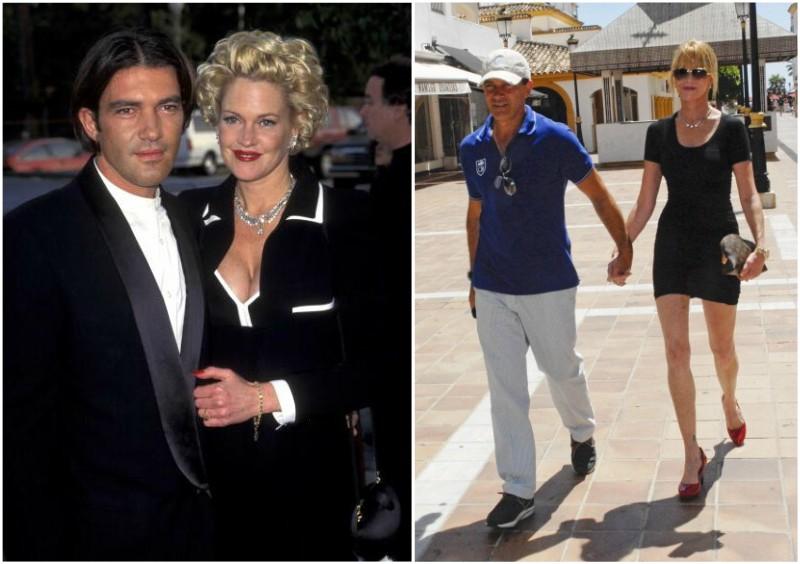 Dakota Johnson`s family - mother Melanie Griffith and ex-husband Antonio Banderas
