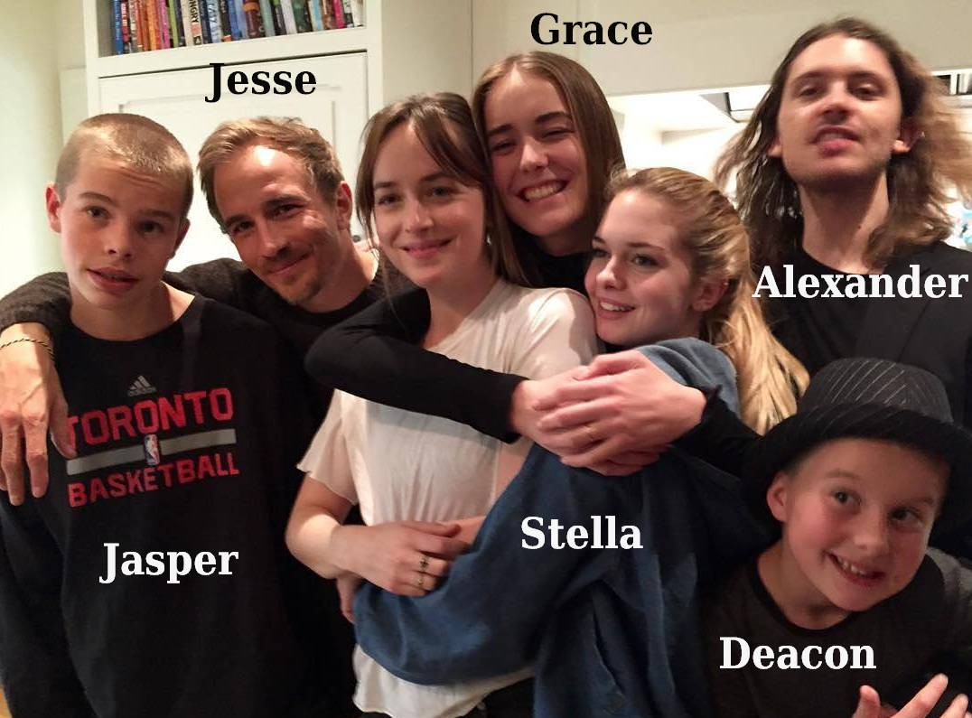 Dakota Johnson`s family - siblings