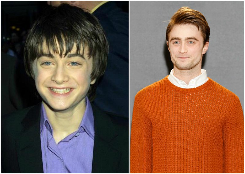 Daniel Radcliffe then and now