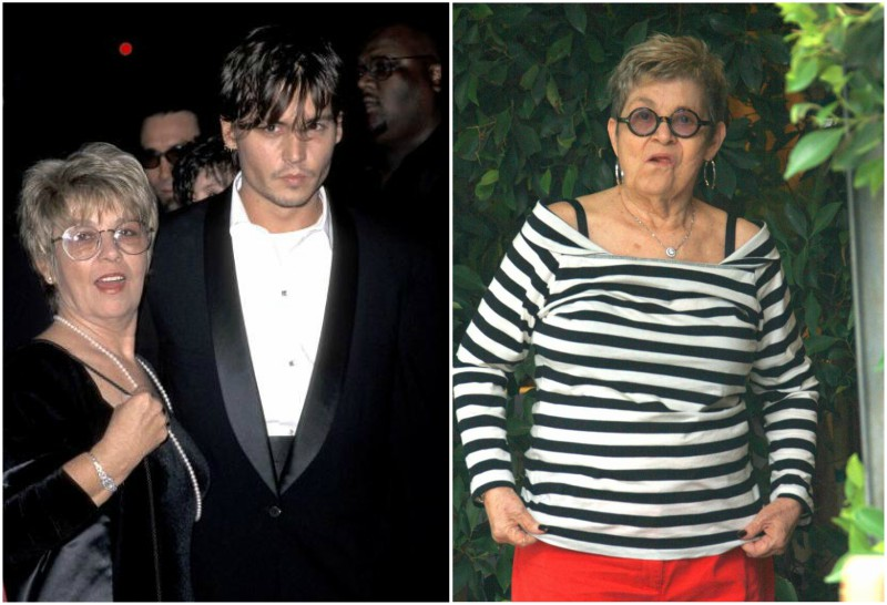 Johnny Depp`s family - mother Betty Sue Palmer