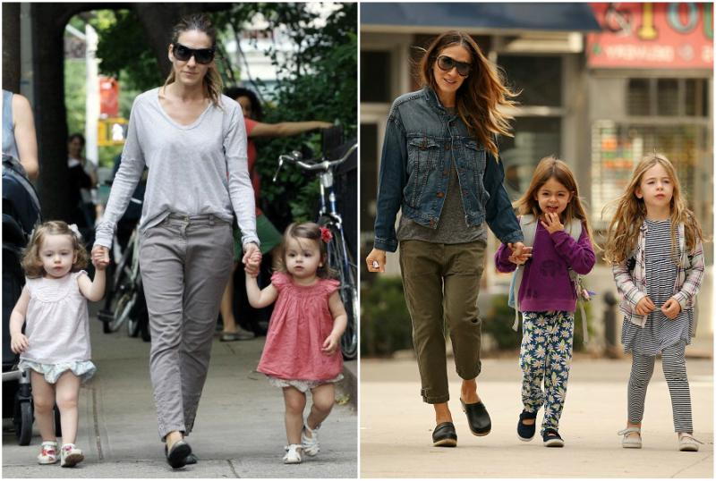 Sarah Jessica Parker`s children - twin daughters - Loretta and Tabitha Broderick