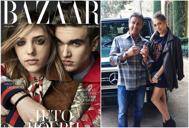 Sylvester Stallone's children - daughter Sistene Stallone