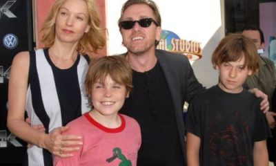 Tim Roth's wife and children