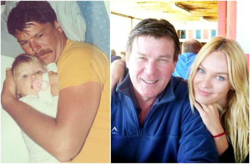 Candice Swanepoel`s family - father Willem Swanepoel