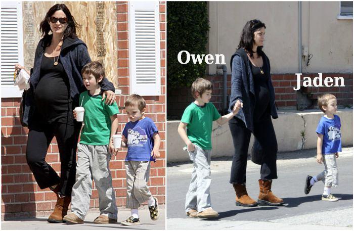 Carrie-Anne Moss` children - Owen and Jaden Roy