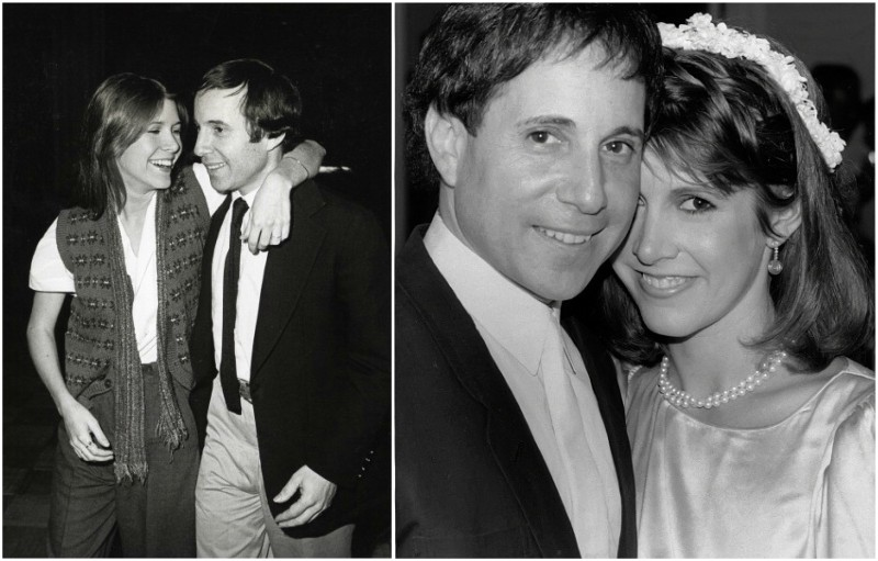 Carrie Fisher`s family - ex-husband Paul Simon