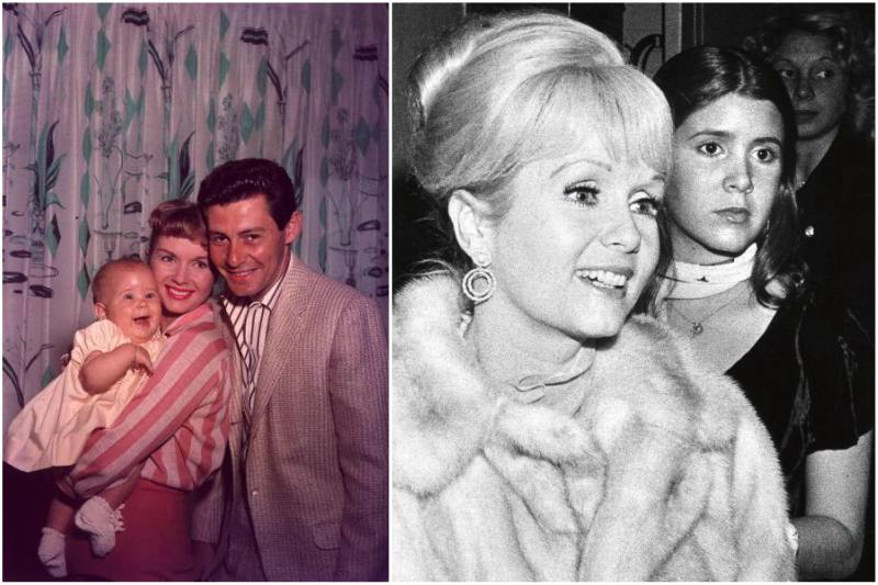 Carrie Fisher`s family - mother Debbie Reynolds and father Eddie Fisher