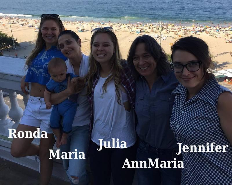 Ronda Rousey`s family