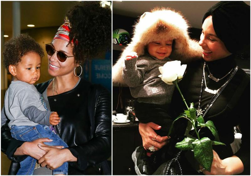 Alicia Keys` children - son Genesis Ali Dean