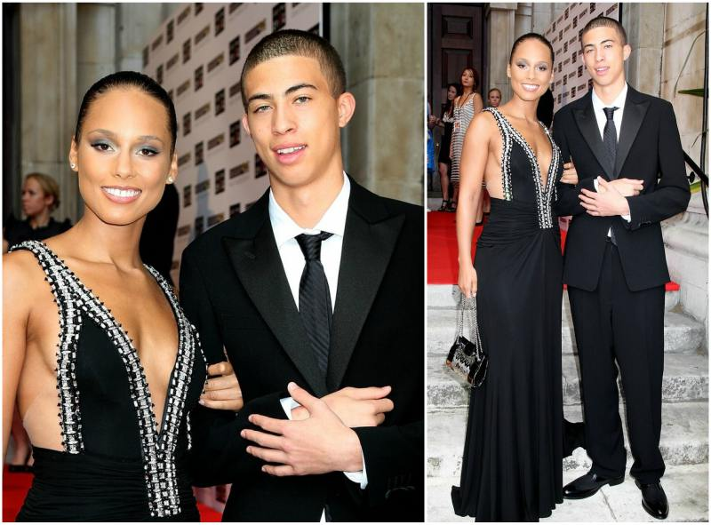 Alicia Keys siblings - half-brother Cole Cook