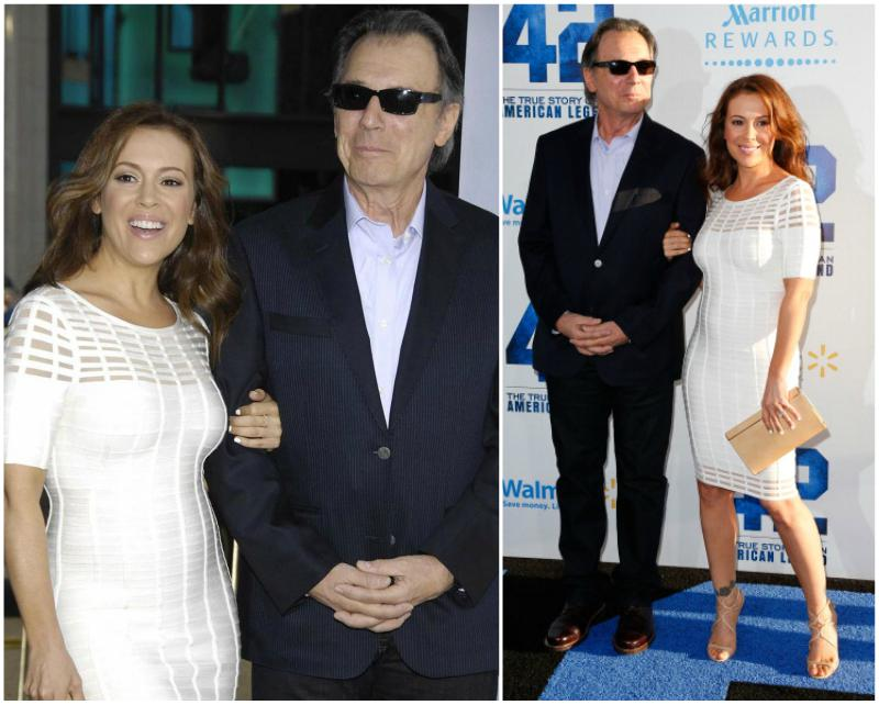 Alyssa Milano`s family - father Thomas M. Milano