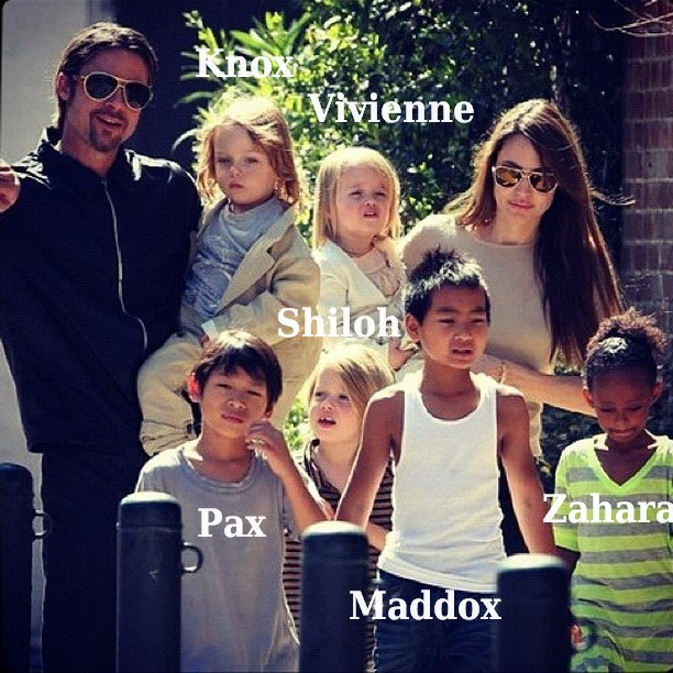 Angelina Jolie`s family