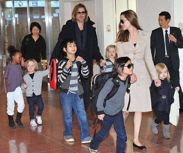 Angelina Jolie`s family: husband, children