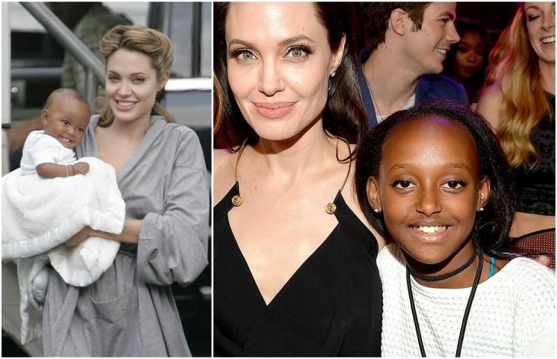 Angelina Jolie`s children - daughter Zahara Marley Jolie-Pitt