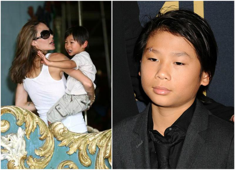 Angelina Jolie`s children - son Pax Thien Jolie-Pitt