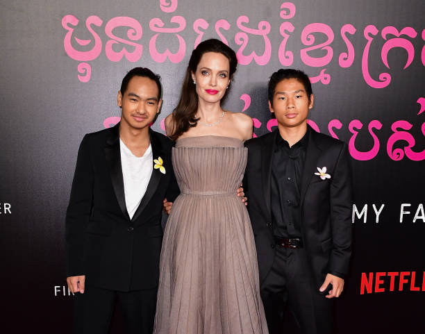 Angelina Jolie children - sons Pax Thien Jolie-Pitt and Maddox Jolie-Pitt