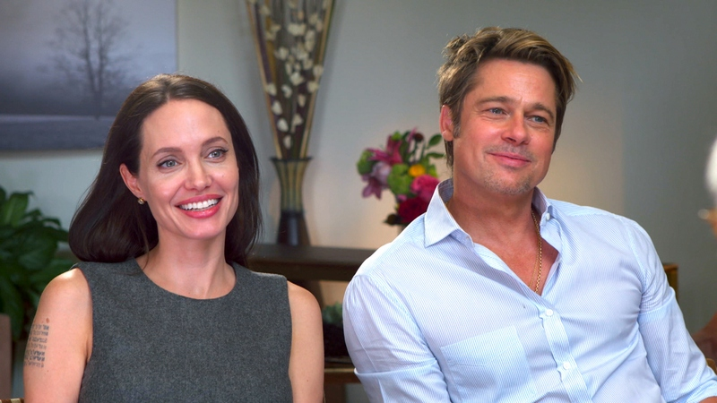 Angelina Jolie`s family - ex-husband Brad Pitt