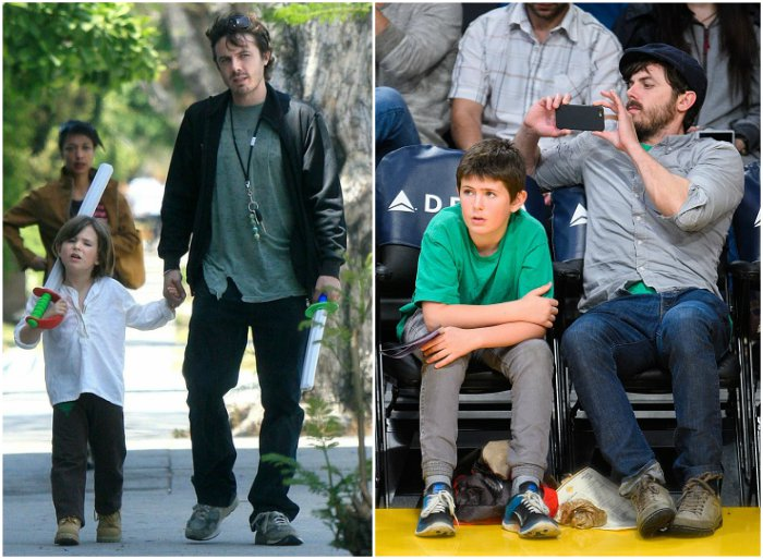 Casey Affleck`s children - son Indiana August Affleck