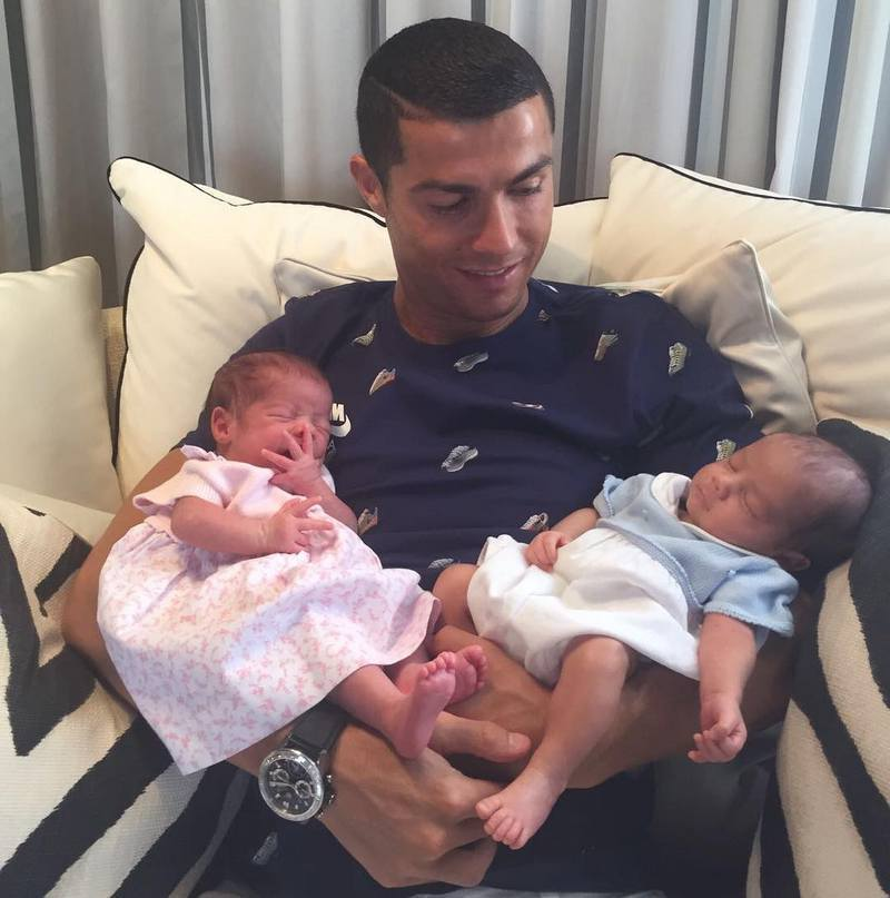 Cristiano Ronaldo's children - twins Mateo Ronaldo (son) and Eva Ronaldo (daughter)