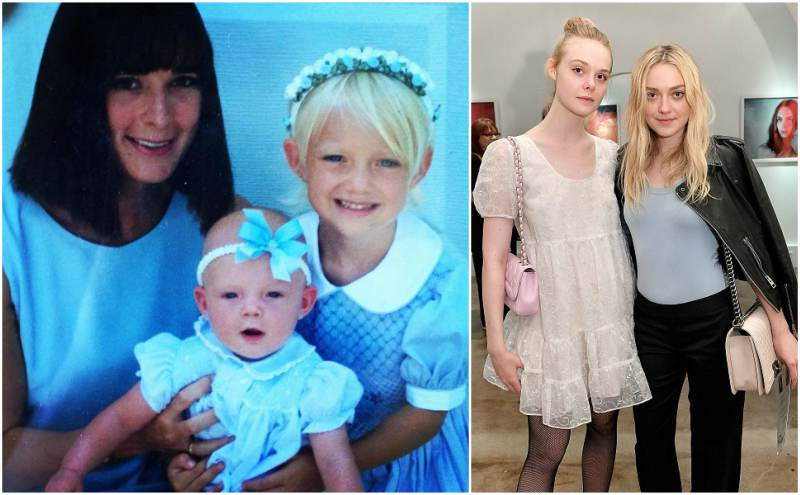 Dakota Fanning`s family - mother Heather Joy Fanning and sister Elle