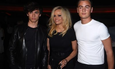 Pamela Anderson with sons Dylan and Brandon