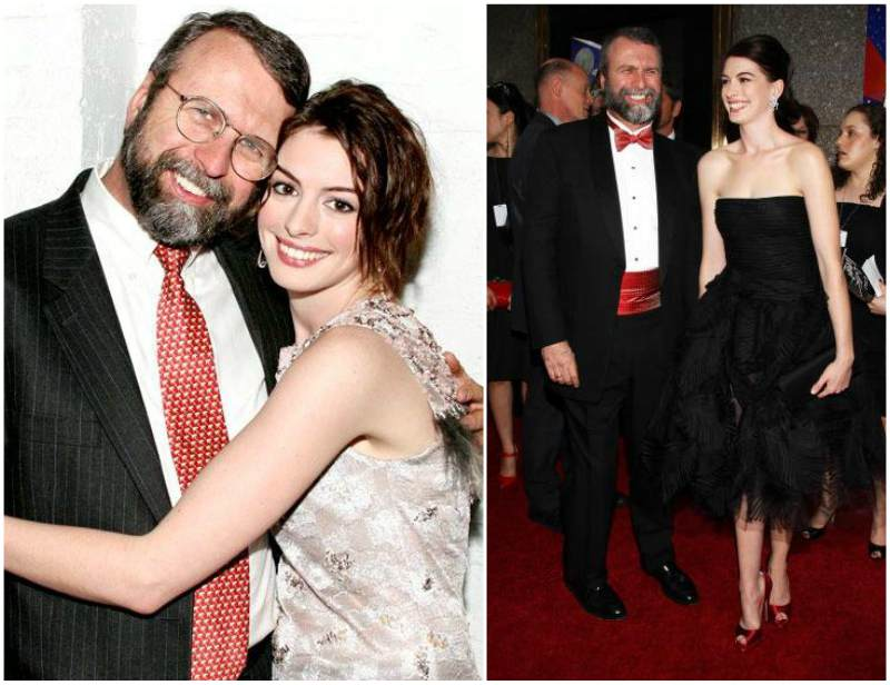 Anne Hathaway`s family - father Gerald Thomas Hathaway