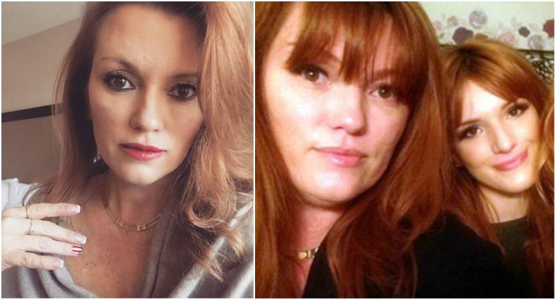 Bella Thorne`s family - mother Tamara Thorne