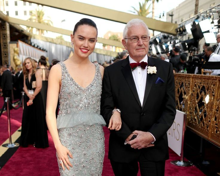 Daisy Ridley`s family - father Christopher Ridley