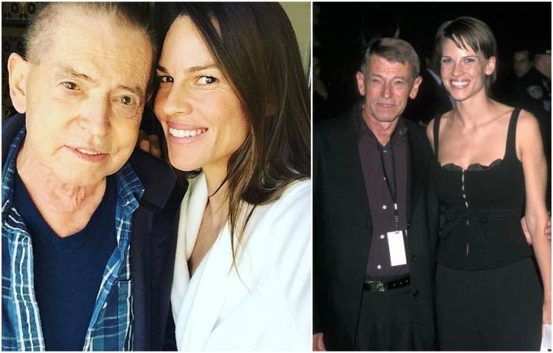Hilary Swank's family - father Stephen Michael Swank