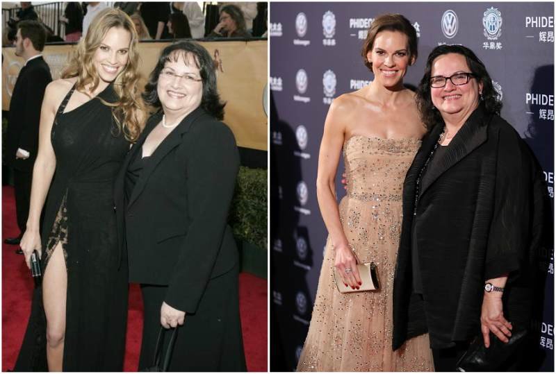 Hilary Swank's family - mother Judy Swank
