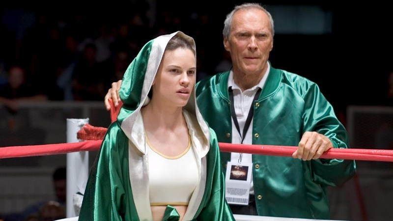 Hilary Swank in movie Million Dollar Baby