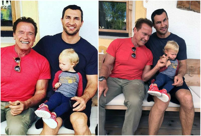 Hayden Panettiere and Wladimir Klitschko`s kids - daughter Kaya Evdokia Klitschko