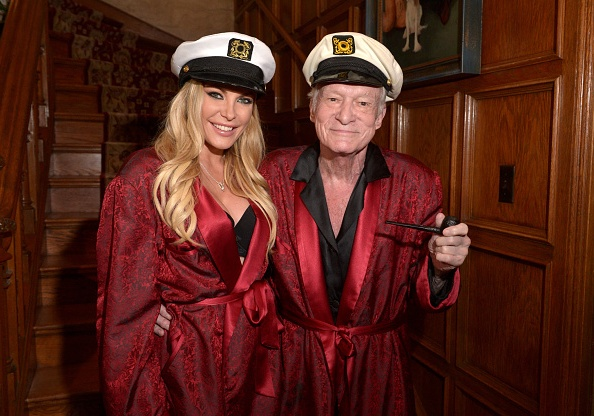 Remarkable publisher Hugh Hefner and his family: wife and ...