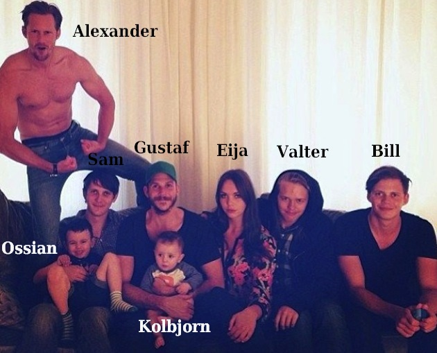 Stellan Skarsgård's children