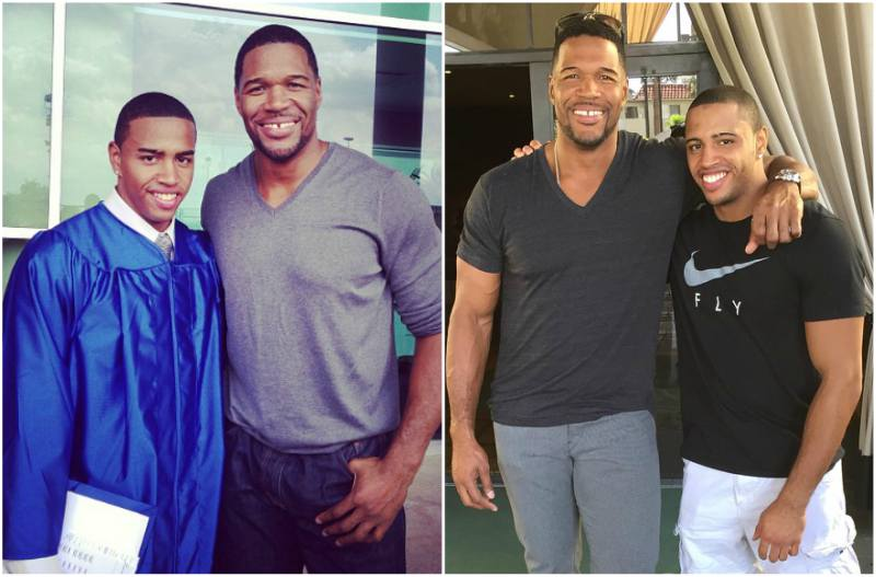 Michael Strahan's children - son Michael Strahan Jr.