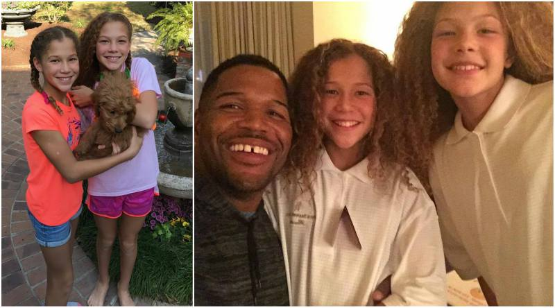 Michael Strahan's children - twin daughters Isabella and Sophia Strahan